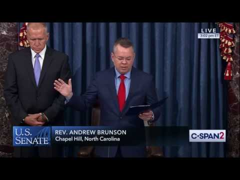 'Oh God fill this place with your presence': Pastor Andrew Brunson opens US Senate with prayer