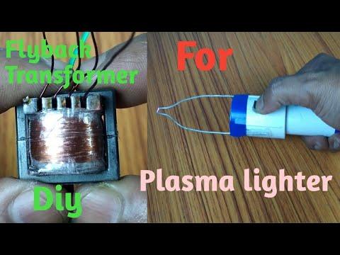 Homemade flyback transformer for plasma lighter