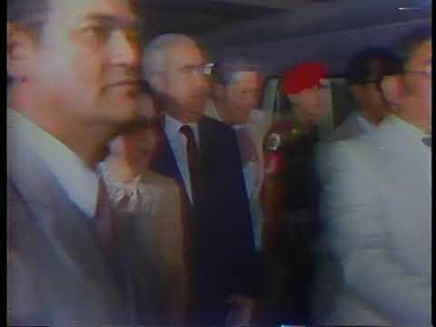 Inauguración del Metro de Caracas Tramo Propatria La Hoyada 2 de Enero 1983