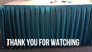 Simple Table Skirting/ Box Pleat