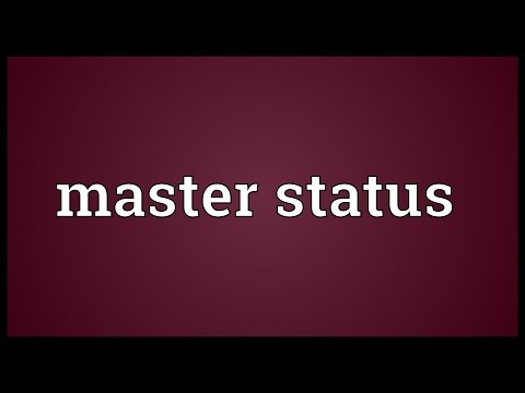 Master status Meaning