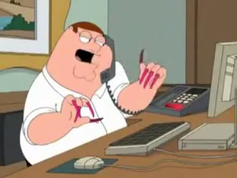 Family Guy Peter Griffin With Acrylic Nails Youtube
