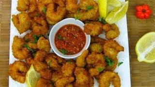 Caribbean Style Popcorn Shrimp.