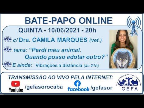 Assista: Palestra Online - c/ CAMILA MARQUES (11/06/2021)