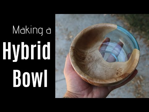 Making a Resin Wood Bowl // Woodworking