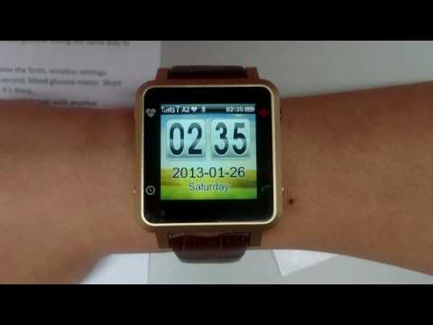 GlucoMate - Healthcare Smart Watch demo video