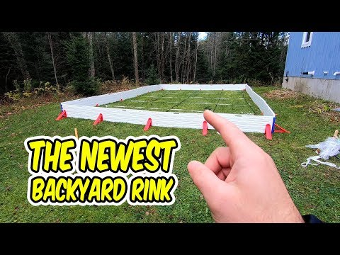 Build a Rink With Me (and meet my bro) - Ez Ice Rink Build