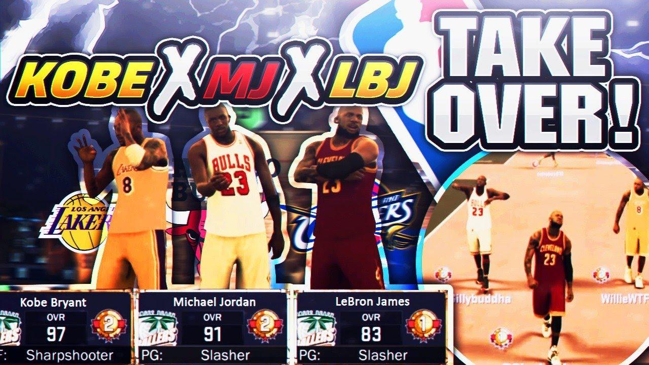 d3313d1cbd22 LEBRON JAMES, KOBE, MJ SHUTDOWN NBA 2K17 MYPARK! A DAY IN THE LIFE W/ NBA  STARS FT. LEBRON JAMES