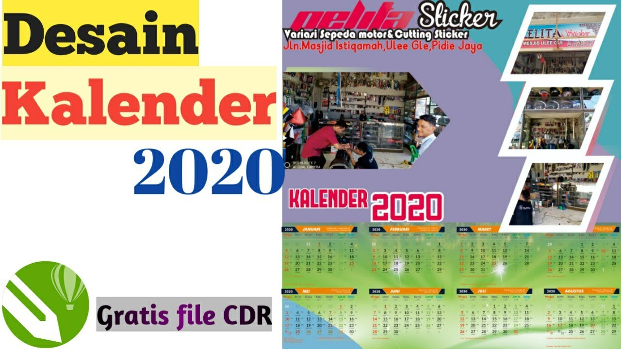 48+ Aksesoris Desain Kalender 2020 1 Lembar Cdr, Desain ...