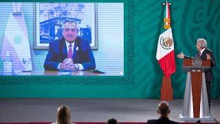 México y Argentina unen esfuerzos para producir vacunas contra COVID-19. Conferencia presidente AMLO