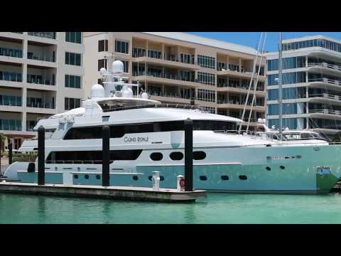 James Bond's Super-Yacht MY 'Casino Royale' docking in Bahamas!
