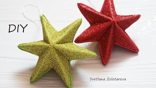 3D⭐ Christmas star made of paper and foamiran⭐