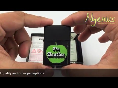 Unboxing Zippo 24831 The Beatles Green Apple, Black Matte, Discontinued