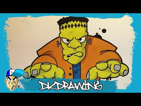 how-to-draw-a-frankenstein-graffiti-character-(halloween-special)-#1