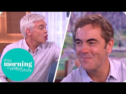 James Nesbitt Gets a Phone Call While Talking Series Two of Lucky Man  This Morning