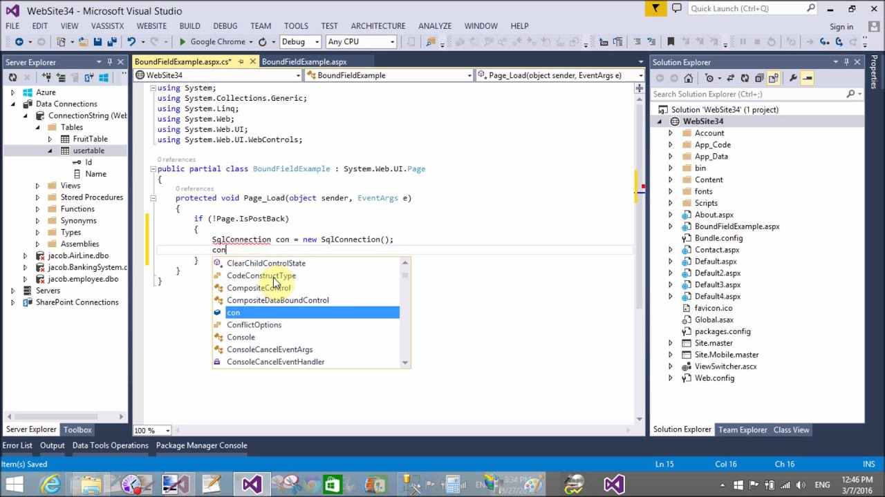 GridView BoundField Example in ASP.NET C# - YouTube
