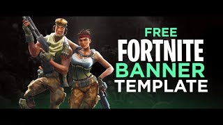 FREE Fortnite Banner Template - by AtmoArtworks [FREE DOWNLOAD]
