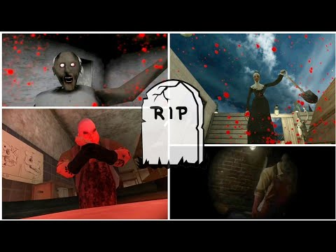Death Scene Endings Battles| Granny vs Evil Nun vs Mr. Meat vs Pychopath Hunt