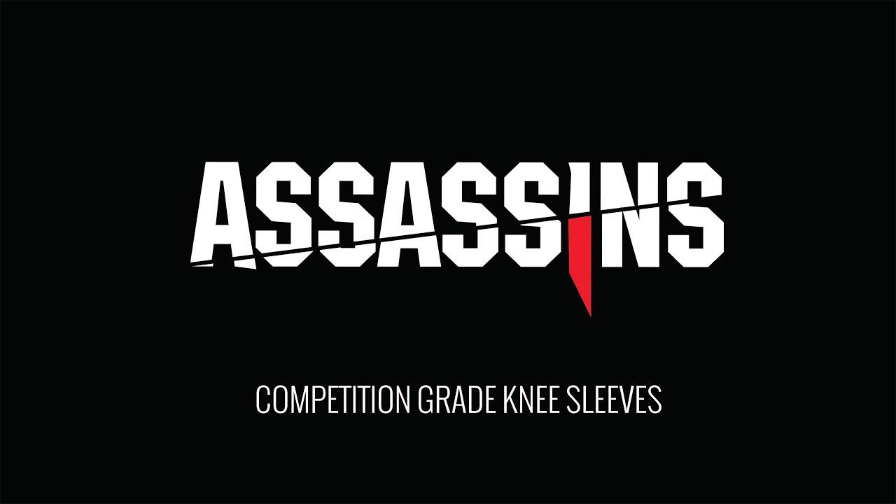RockTape Assassins Knee Support Sleeves 5mm Cross Fit Pair Black