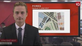Bourse - EUR/USD, Mario Draghi en soutien - IG 21.07.2017