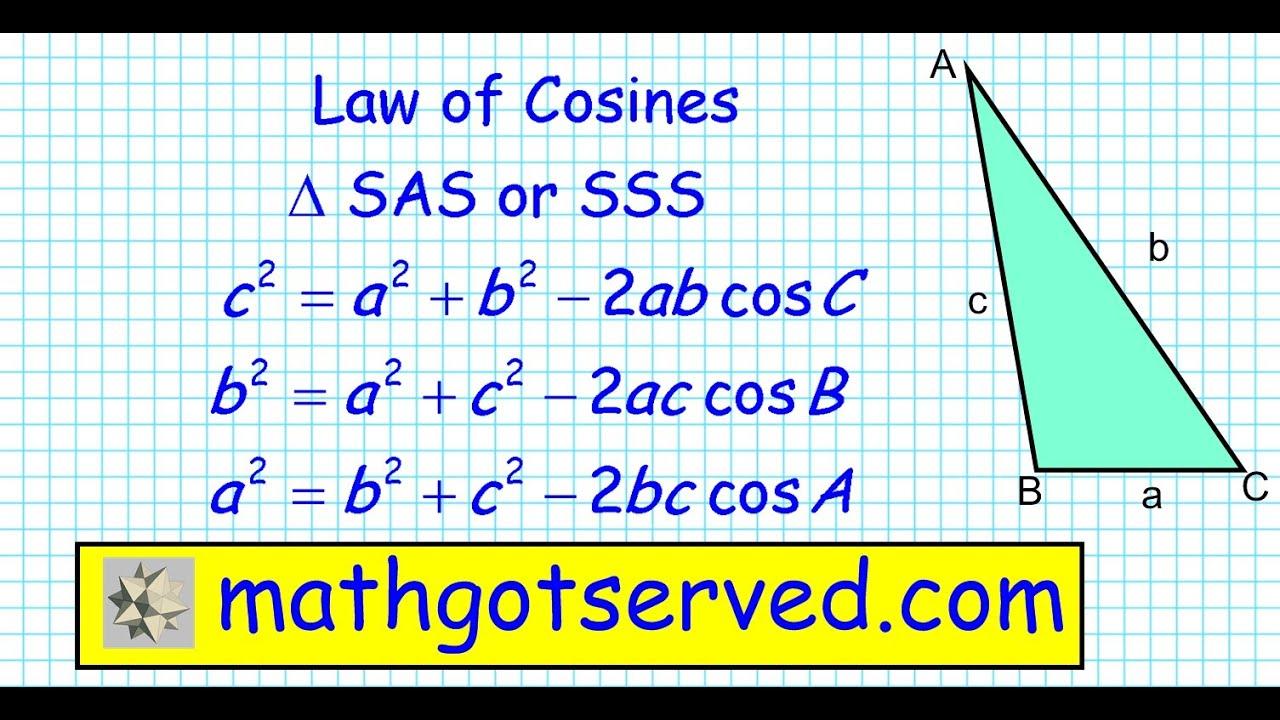 Law Of Cosines I Pru6l3 Trigonometry Precalculus Algebra 2