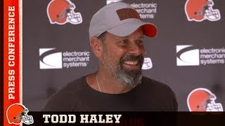 Todd Haley: We want a team that can bounce back and never backs down | Browns Press Conference