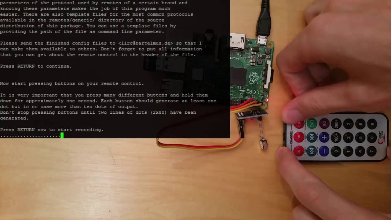 Raspberry Pi Infrared Receiver Configuration