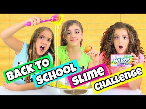 GIANT Back To School Slime Challenge!