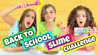 GIANT Back To School Slime Challenge!
