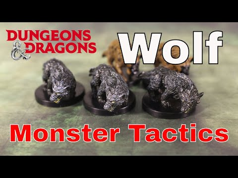 D&D (5e): Monster Tactics, Wolf.
