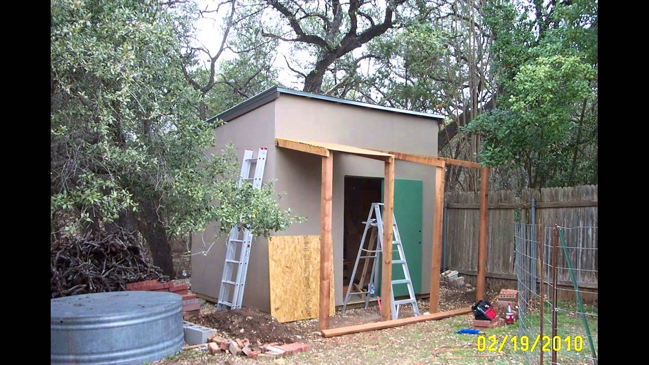 8x10 Shed Plans Materials List Youtube