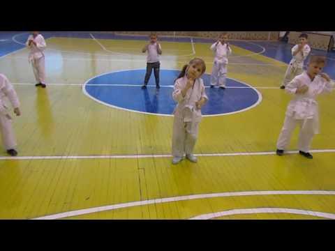 """РАдужный Киокусинкай каратэ. Тренировка группы дети 5- 7 лет СК """"Сибирь"""""""""""