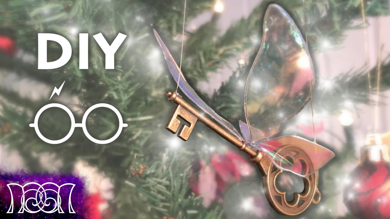 harry potter flying keys christmas diy - Harry Potter Christmas Decorating Ideas