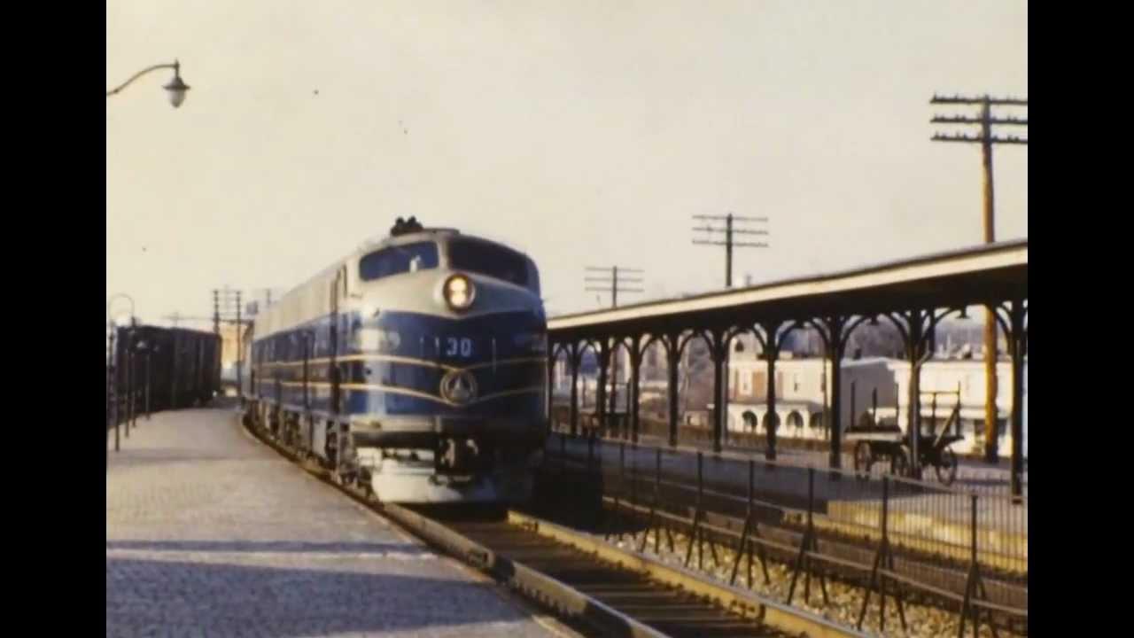 B&O 1950's - Wilmington, Delaware - YouTube