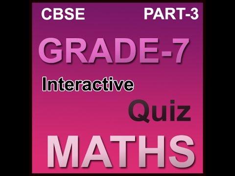 CBSE math quizzes online for class vii