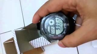 unboxing casio jam tangan ae 1000 w 1avdf black