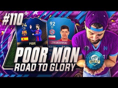 SBC LEWANDOWSKI COMPLETE!!! TOTY PIQUE IS SO OP!!! - Poor Man RTG #110 - FIFA 17 Ultimate Team