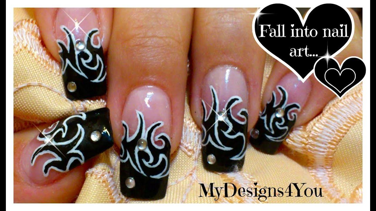tattoo nail art design tutorial