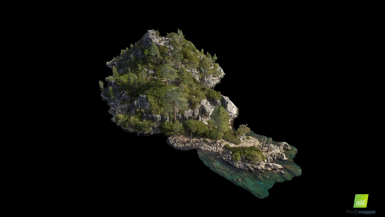 Fannette Island 3D Model | Emerald Bay | Lake Tahoe, CA
