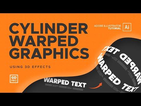 Cylinder Warped Graphics * Adobe Illustrator Tutorial