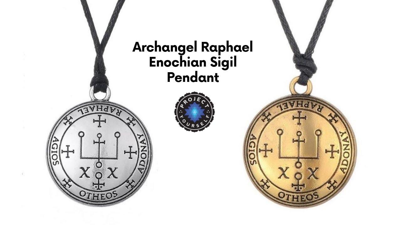 Archangel Raphael Enochian Sigil Pendant