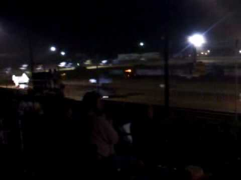 Sprint Car crash at Lakeville Speedway