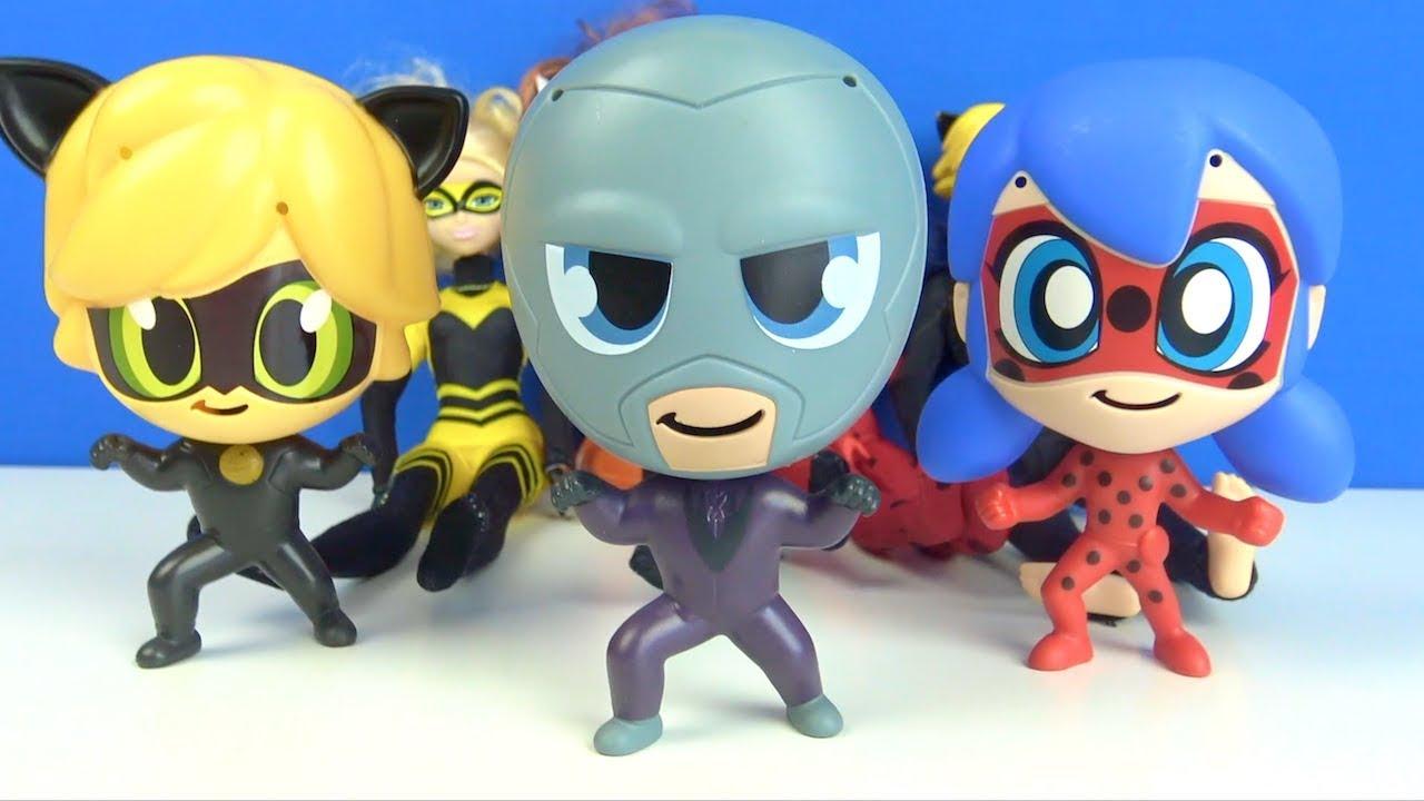 Mucize Uğur Böceği ile Kara Kedi Türkçe çizgi film oyuncakları ile Burger King oyuncakları Hawk Moth