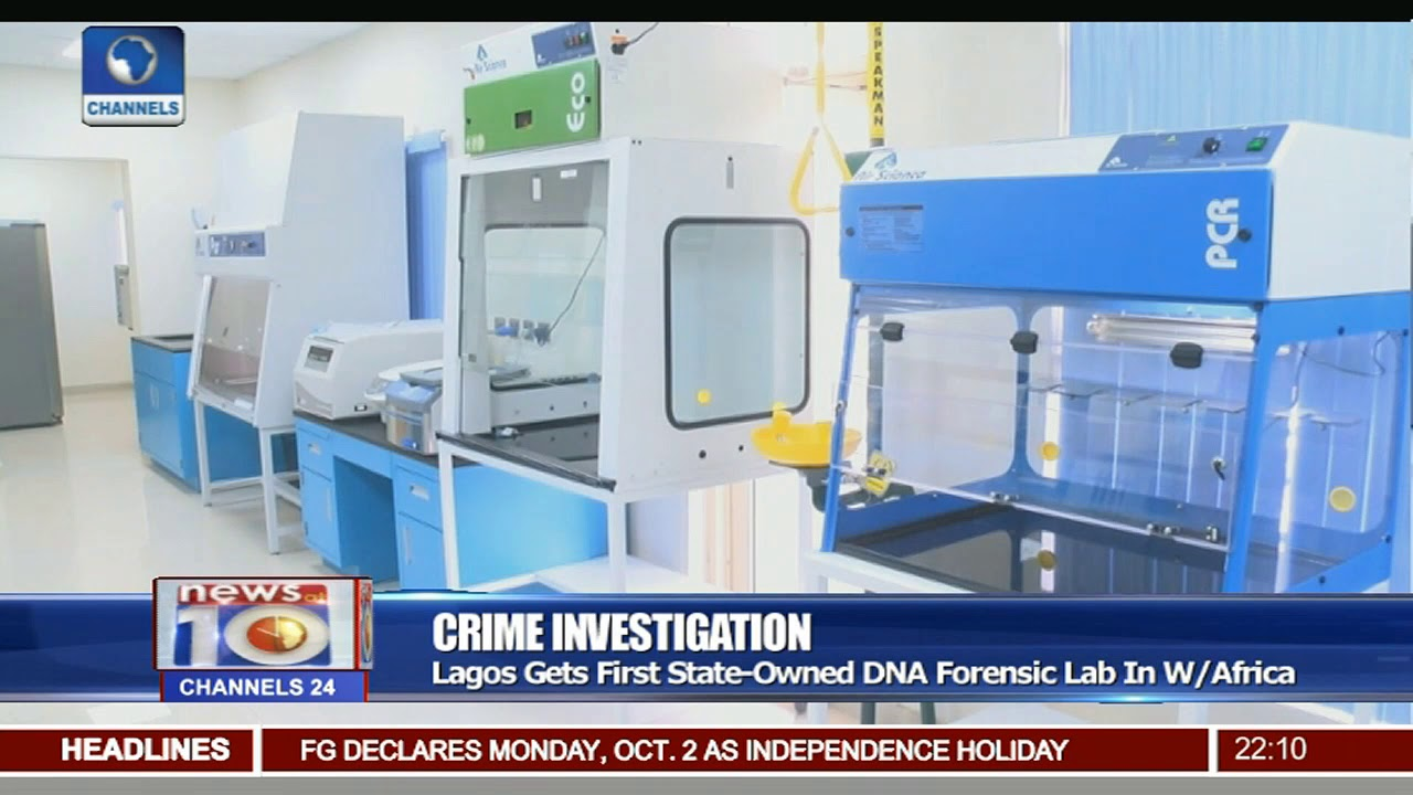 Crime Investigation Lagos Gets First State Owned Dna Forensic Lab In W Africa Youtube