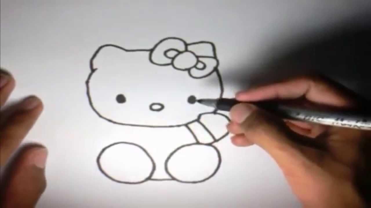 Como dibujar a Hello Kitty l How to draw Hello Kitty  YouTube