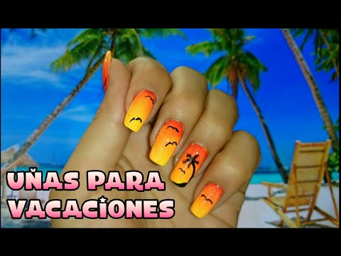 Decoracion De Uñas Playa Beach Nail Art Andy Lo Youtube