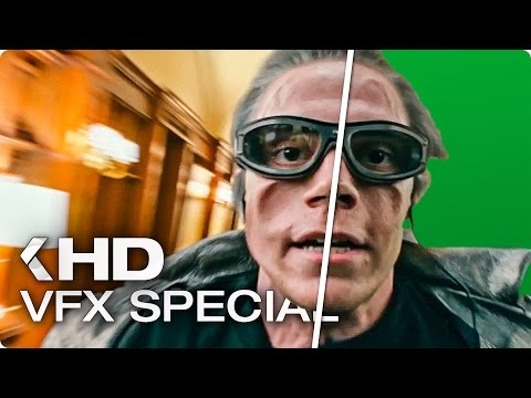 X-MEN Apocalypse - Quicksilver Scene VFX Breakdown (2016)