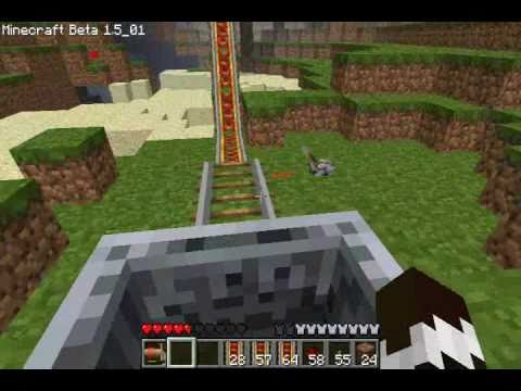 Minecart Tracks Uphill Powered Minecart Track in