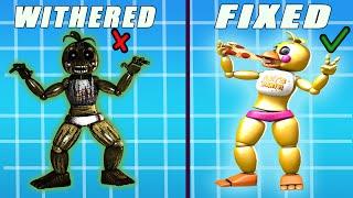Fixed Vs WITHERED PHANTOM TOY HOAXES Animatronics