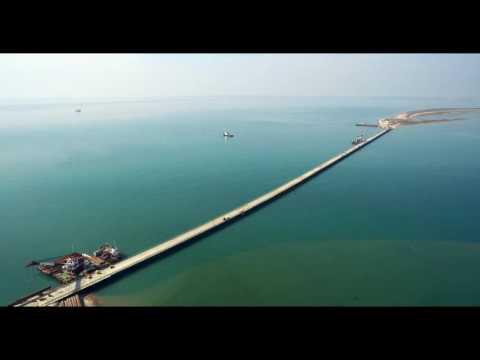 Керченский мост 2017 мост растет стремительно  вид с спутника